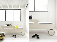 Cama con ruedas como primera cama del niño