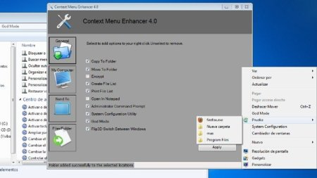 Añade opciones al menú contextual de Windows con Context Menu Enhancer