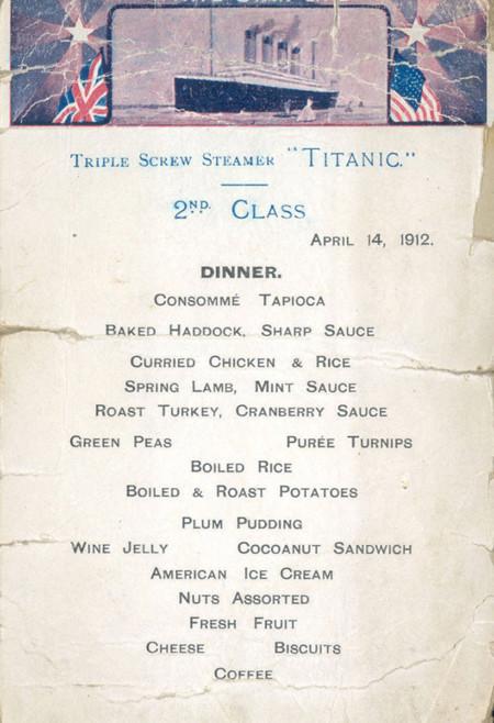 Menus Titanic 4