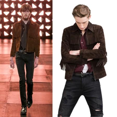 Clon De La Semana Saint Laurent Fringe Jacket Zara