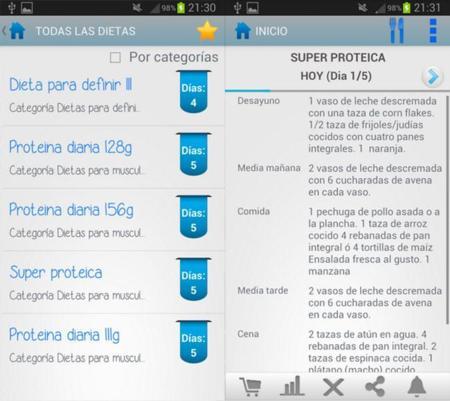 App para dieta aumentar masa muscular