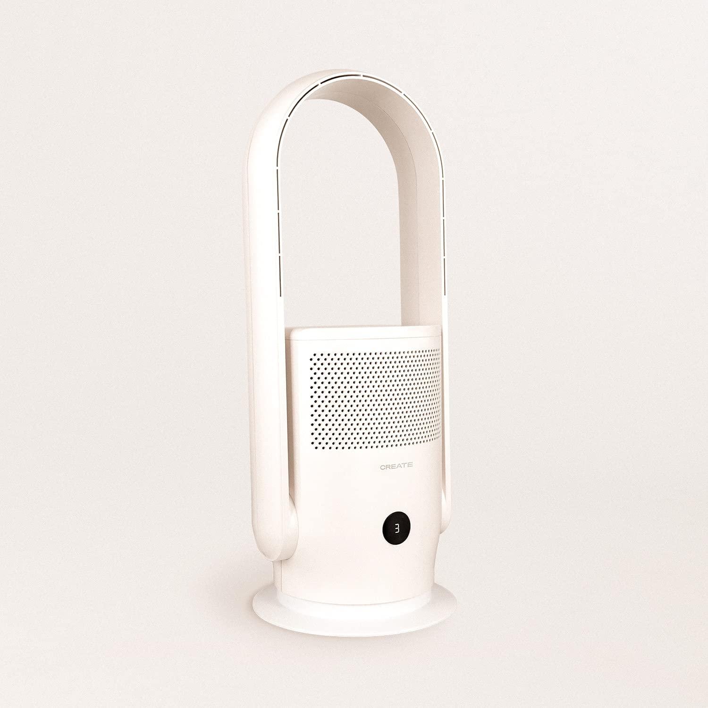 IKOHS Air Pure Studio - Purificador Ventilador sin aspas, 35W, Silencioso, Aire Fresco y Puro, Elimina el 99,9% de Polvo, Polen, Acaros, Gérmenes y Bacterias, Luz Ultravioleta, WiFi y App (Blanco)