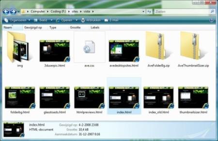 HTML Explorer Thumbnails, miniaturas de archivos HTML en el explorador de Vista