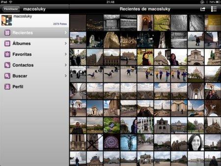 FlickStackr, el aliado perfecto en tu iPad para tu cuenta de Flickr