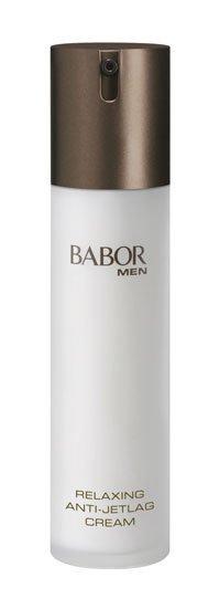 Babor Relaxing anti-jetlag cream, un cosmético para hombres viajeros