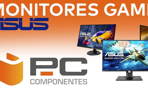Estos 11 monitores gaming ASUS están en oferta en PcComponentes: tienen descuentos de hasta un 16% y llevan envío gratis