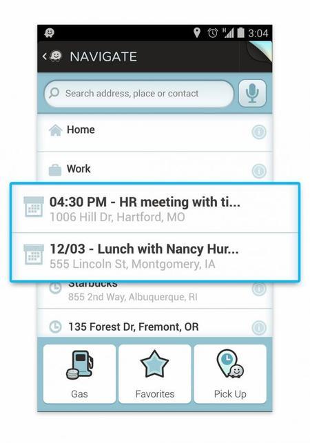 Waze llega con una actualización a calendario