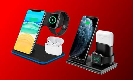 Estas 3 bases de carga para iPhone, Apple Watch y AirPods te salen muy, muy baratas en Amazon y matan 3 pájaros de un tiro