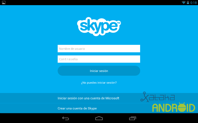 Skype tablets android