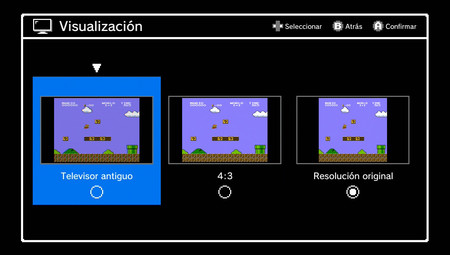 Menu Resoluciones Nes Mini