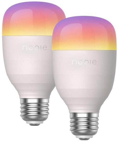 35% de descuento en el pack de dos bombillas inteligentes Nooie Bombilla LED: controla dos lámparas de casa con Alexa por 19,49 euros