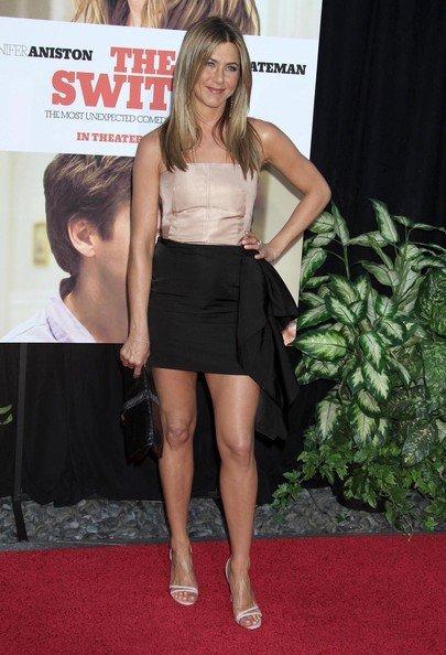 Jennifer Aniston también opta por el nude en la premiere de 'The Switch'