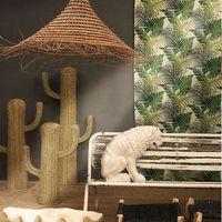 Los cactus de esparto, bambú o incluso en forma de lámpara  se llevan en formato XL para dar un giro a la decoración de nuestro hogar
