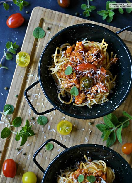 salsa boloñesa para vegetarianos