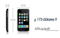 El iPhone 3G tiene un costo para Apple de 173 dólares