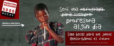 Cibermaratón, 5.000 becas de 50 euros para niños afectados por conflictos armados