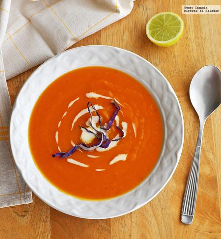 Sopa Camote Jengibre Naranja