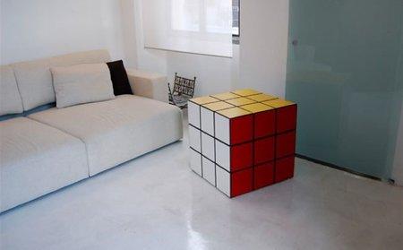 Un cubo de Rubik gigante, para almacenaje en el hogar