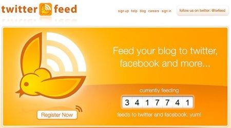 Cómo publicar automáticamente los posts de tu blog en Twitter y Facebook con Twitterfeed