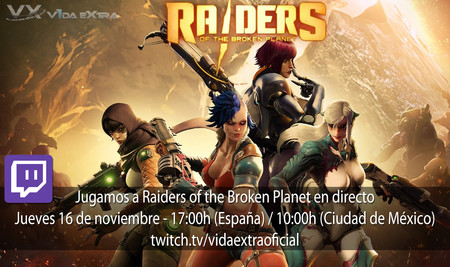 Streaming de Raiders of the Broken Planet a las 17:00h (las 10:00h en Ciudad de México)