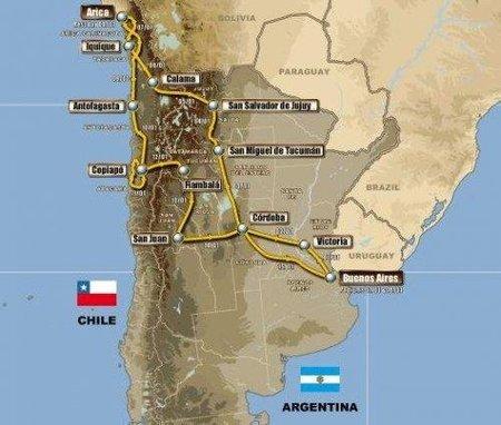 Desvelado el recorrido del Dakar 2011 Argentina - Chile
