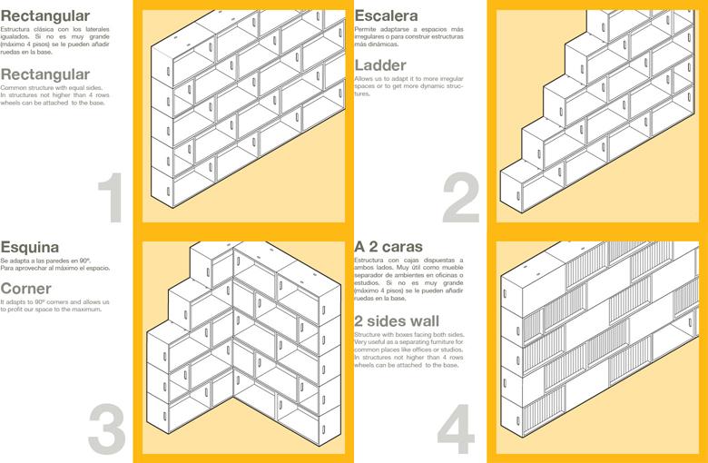 Foto de Feria Hábitat 2010: BrickBox, una ingeniosa estantería modular (7/7)