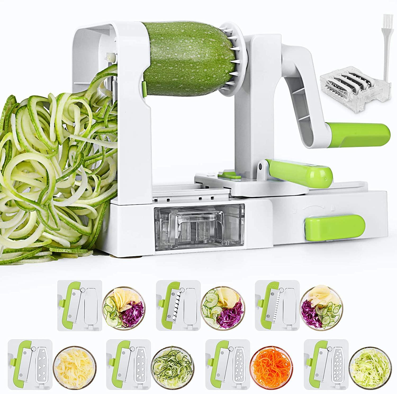 Sedhoom Espiralizador de vegetales y cortador de verduras