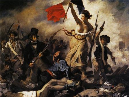 Delacroix libertad guiando al pueblo