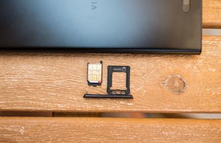 Sony Xperia Xz1, bandeja SIM