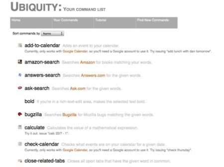 comandos de ubiquity