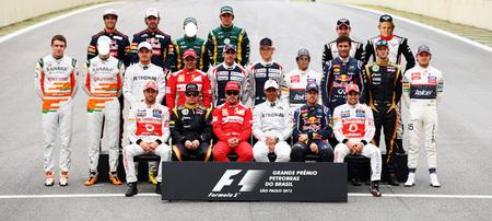 Así está la parrilla 2013 de Fórmula 1