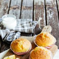 Receta rápida de muffins de maíz