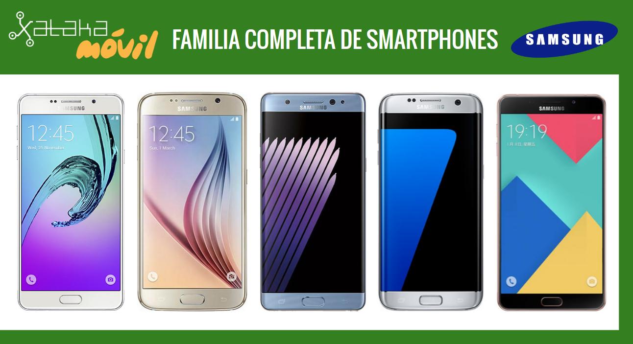 Así queda el catálogo completo de móviles Samsung tras la llegada del nuevo Galaxy Note 7