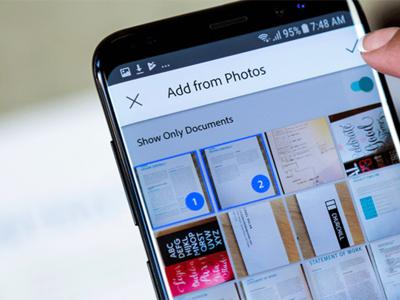 Adobe Scan usa su nueva inteligencia artificial para buscar todas las fotos de tus documentos y recibos