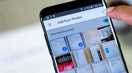 Adobe Scan usa su nueva inteligencia artificial para buscar todas las fotos de tus documentos y recibos