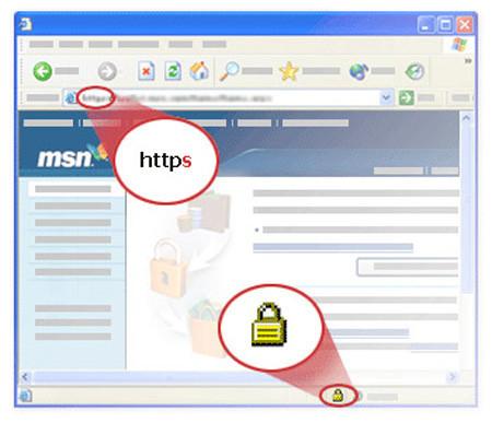 Navegador web bajo un una conexion con certificado SSL
