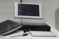 Toshiba L01, con un teclado externo