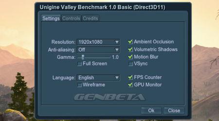 Unigine Valley configuración dinámica