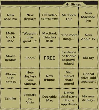 No hay Macworld Keynote sin su bingo