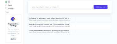 Mailist es una aplicación web gratuita que te envía semanalmente los enlaces que agregues para leer más tarde