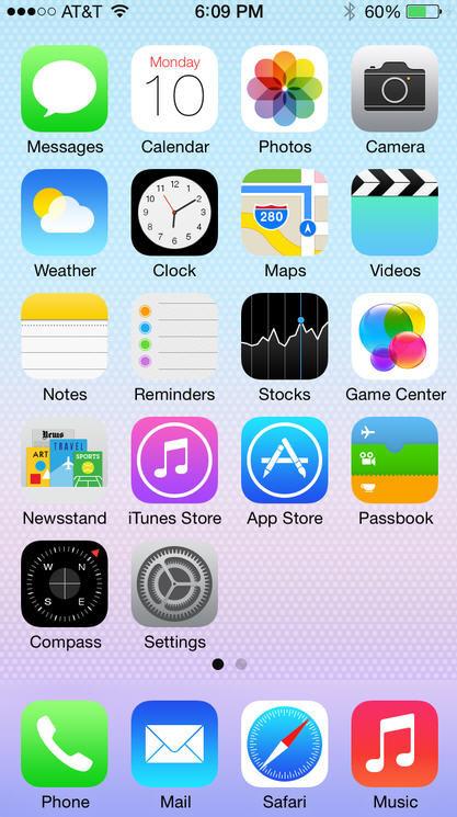 iOS 7 plano