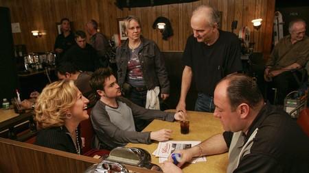 David Chase en el rodaje del último episodio de Los Soprano