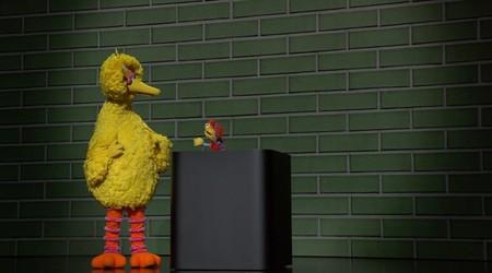 Big Bird y su nueva amiga Cody