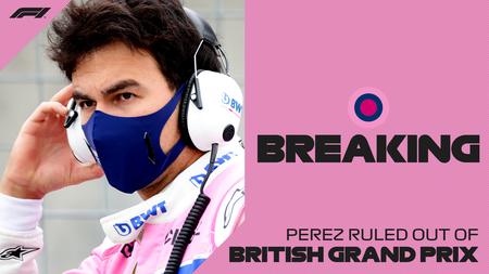 Sergio Pérez da positivo a Covid-19, se perderá el Gran Premio Británico y probablemente las siguientes dos carreras