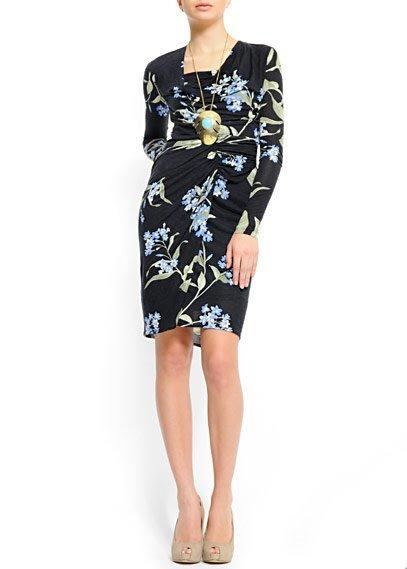vestido mango estampado floral