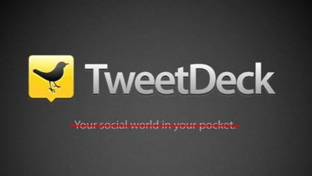 Twitter se carga la versión para iOS de TweetDeck