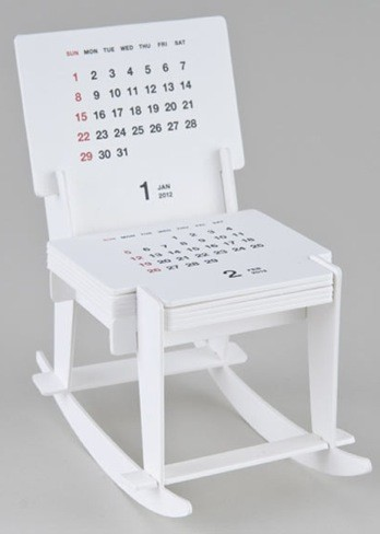 El calendario de 2012 integrado en una bonita mecedora