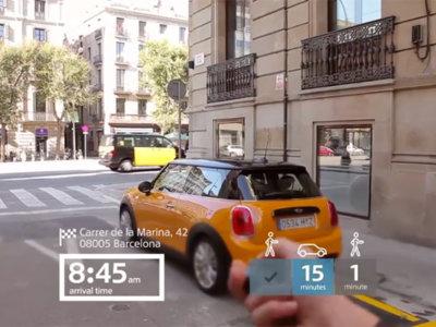 Así se vería Barcelona con las gafas de realidad aumentada de MINI