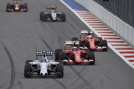 Bottas Raikkonen Rusia F1 2015