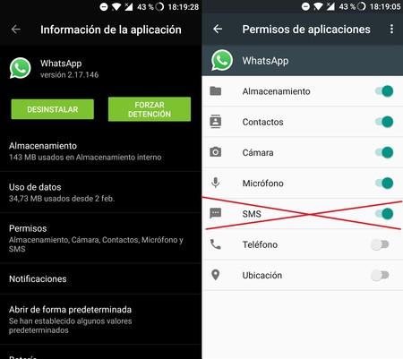 Whatsapp Permisos